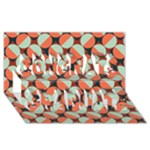 Modernist Geometric Tiles Congrats Graduate 3D Greeting Card (8x4)