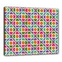 Modernist Floral Tiles Canvas 24  x 20  View1