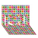 Modernist Floral Tiles I Love You 3D Greeting Card (7x5)