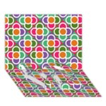 Modernist Floral Tiles LOVE Bottom 3D Greeting Card (7x5)
