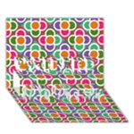 Modernist Floral Tiles YOU ARE INVITED 3D Greeting Card (7x5)