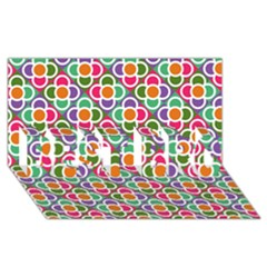 Modernist Floral Tiles Best Bro 3d Greeting Card (8x4) by DanaeStudio