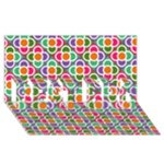 Modernist Floral Tiles BEST BRO 3D Greeting Card (8x4)