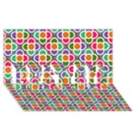 Modernist Floral Tiles BEST SIS 3D Greeting Card (8x4)