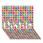 Modernist Floral Tiles HOPE 3D Greeting Card (7x5)