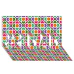 Modernist Floral Tiles #1 DAD 3D Greeting Card (8x4)