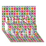 Modernist Floral Tiles Miss You 3D Greeting Card (7x5)