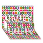Modernist Floral Tiles You Did It 3D Greeting Card (7x5)