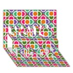 Modernist Floral Tiles You Rock 3D Greeting Card (7x5)