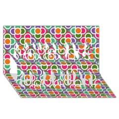 Modernist Floral Tiles Congrats Graduate 3d Greeting Card (8x4)