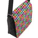 Modernist Floral Tiles Flap Messenger Bag (L)  View2