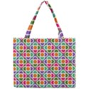 Modernist Floral Tiles Mini Tote Bag View1