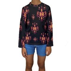 Alphabet Shirtjhjervbretili Kids  Long Sleeve Swimwear by MRTACPANS