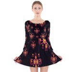 Alphabet Shirtjhjervbretili Long Sleeve Velvet Skater Dress