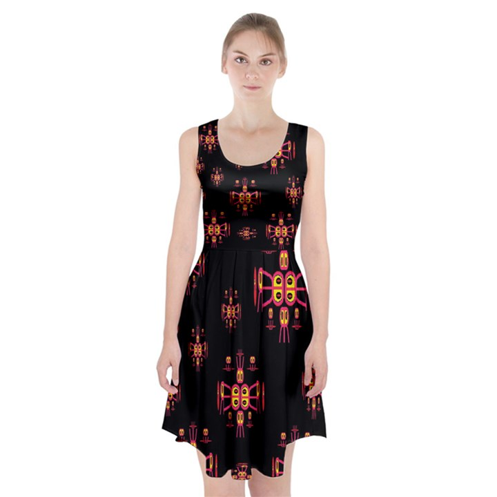 Alphabet Shirtjhjervbretili Racerback Midi Dress