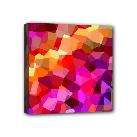 Geometric Fall Pattern Mini Canvas 4  X 4