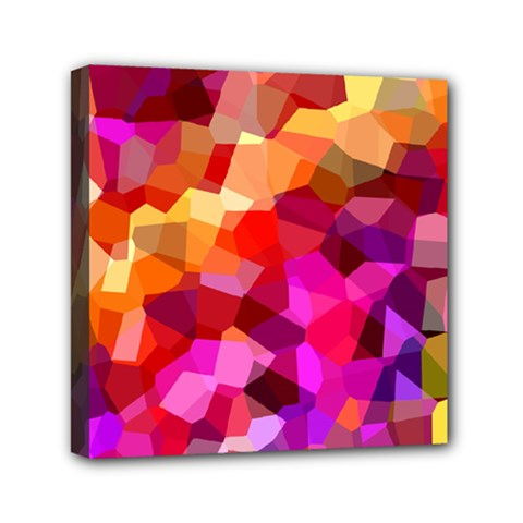 Geometric Fall Pattern Mini Canvas 6  X 6