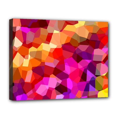 Geometric Fall Pattern Canvas 14  X 11  by DanaeStudio
