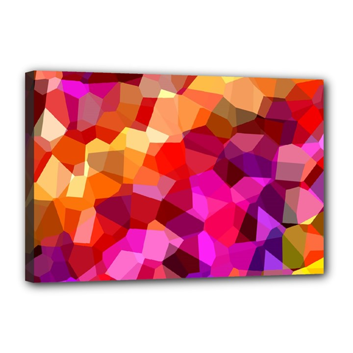 Geometric Fall Pattern Canvas 18  x 12