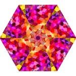 Geometric Fall Pattern Mini Folding Umbrellas