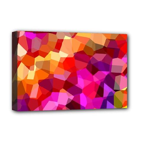 Geometric Fall Pattern Deluxe Canvas 18  X 12   by DanaeStudio