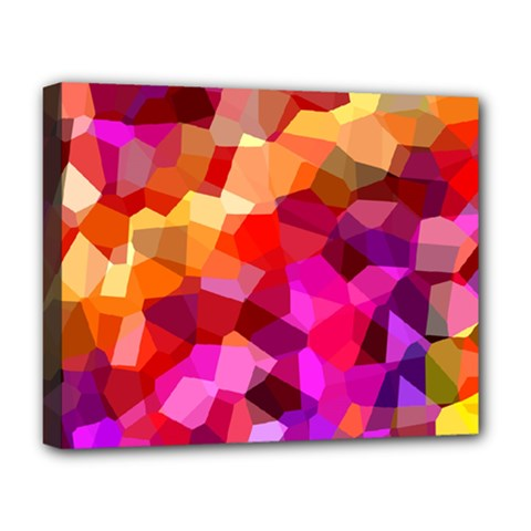 Geometric Fall Pattern Deluxe Canvas 20  X 16   by DanaeStudio