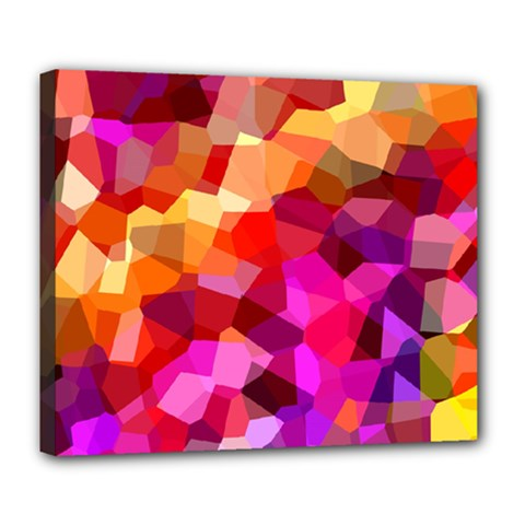 Geometric Fall Pattern Deluxe Canvas 24  X 20   by DanaeStudio