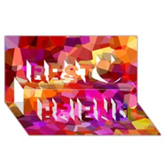 Geometric Fall Pattern Best Friends 3d Greeting Card (8x4) by DanaeStudio