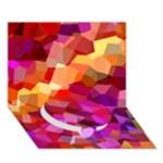Geometric Fall Pattern Circle Bottom 3D Greeting Card (7x5)