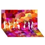 Geometric Fall Pattern BEST SIS 3D Greeting Card (8x4)