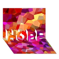 Geometric Fall Pattern Hope 3d Greeting Card (7x5) by DanaeStudio