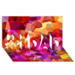 Geometric Fall Pattern #1 DAD 3D Greeting Card (8x4)