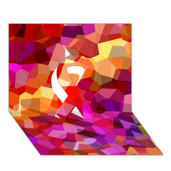 Geometric Fall Pattern Ribbon 3D Greeting Card (7x5)