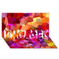 Geometric Fall Pattern Engaged 3d Greeting Card (8x4) by DanaeStudio
