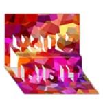 Geometric Fall Pattern You Did It 3D Greeting Card (7x5)