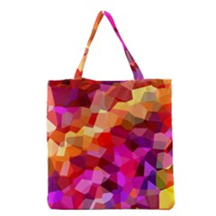 Geometric Fall Pattern Grocery Tote Bag by DanaeStudio