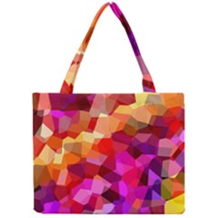 Geometric Fall Pattern Mini Tote Bag by DanaeStudio