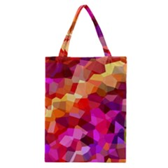 Geometric Fall Pattern Classic Tote Bag
