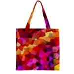 Geometric Fall Pattern Zipper Grocery Tote Bag