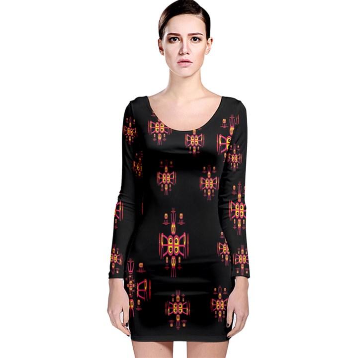 Alphabet Shirtjhjervbretilihhj Long Sleeve Bodycon Dress