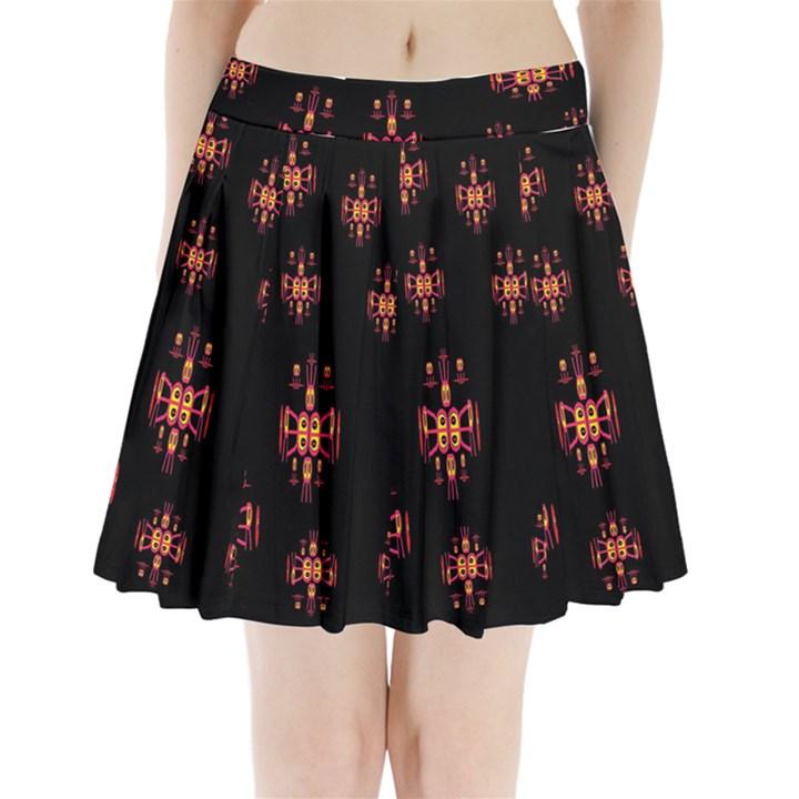 Alphabet Shirtjhjervbretilihhj Pleated Mini Skirt