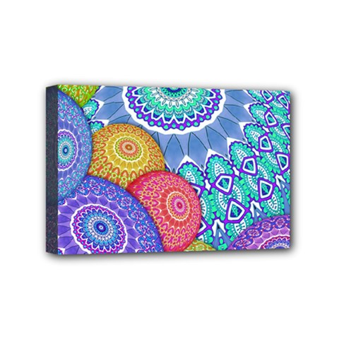 India Ornaments Mandala Balls Multicolored Mini Canvas 6  X 4  by EDDArt