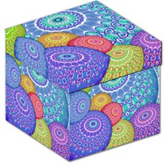 India Ornaments Mandala Balls Multicolored Storage Stool 12   by EDDArt