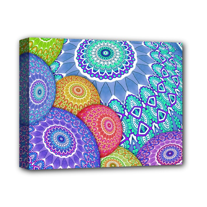 India Ornaments Mandala Balls Multicolored Deluxe Canvas 14  x 11