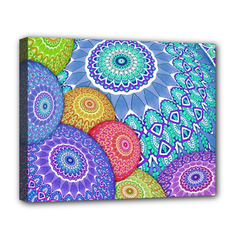 India Ornaments Mandala Balls Multicolored Deluxe Canvas 20  X 16   by EDDArt