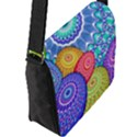 India Ornaments Mandala Balls Multicolored Flap Messenger Bag (L)  View2
