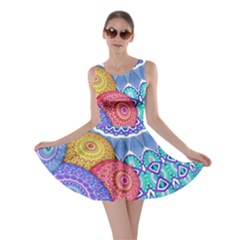 India Ornaments Mandala Balls Multicolored Skater Dress