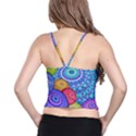 India Ornaments Mandala Balls Multicolored Spaghetti Strap Bra Top View2
