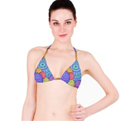 India Ornaments Mandala Balls Multicolored Bikini Top by EDDArt