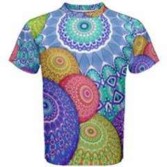 India Ornaments Mandala Balls Multicolored Men s Cotton Tee